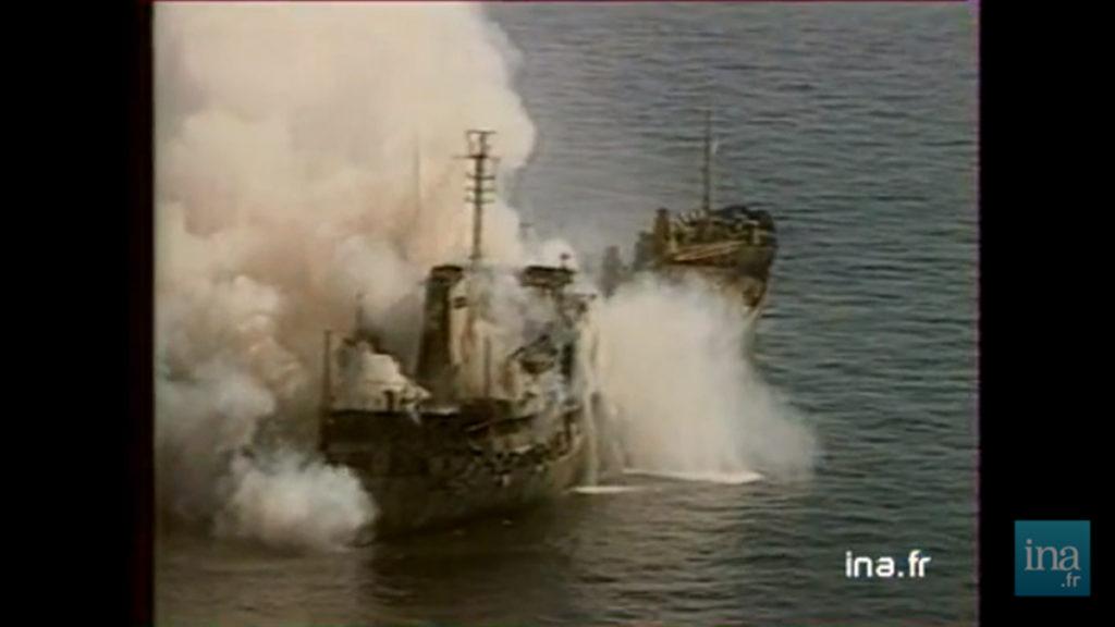 FOTO VIDEO O navă românească a fost atacată de către armata iraniană cu rachete cu napalm. Pe 23 noiembrie 2017 se împlinesc 30 de ani de la această tragedie