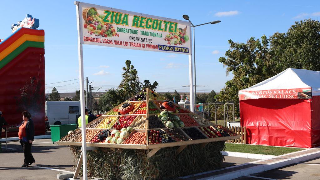 FOTO VIDEO Ziua Recoltei, sărbătorită la Valu lui Traian. Primăria a lăsat producătorii să aducă bunătățile, fructele și legumele, iar fondurile din buget au mers mai mult spre investiții și dezvoltare