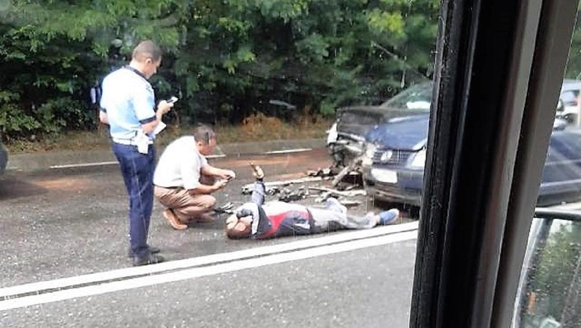 Coliziune în lanț pe DN 39, la intrarea în Eforie: trei autoturisme implicate, un șofer rănit
