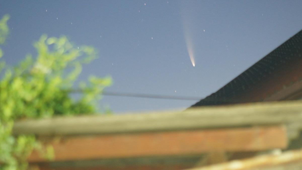 FOTO Spectacol pe cerul României: Cometa Neowise, vizibilă cu ochiul liber