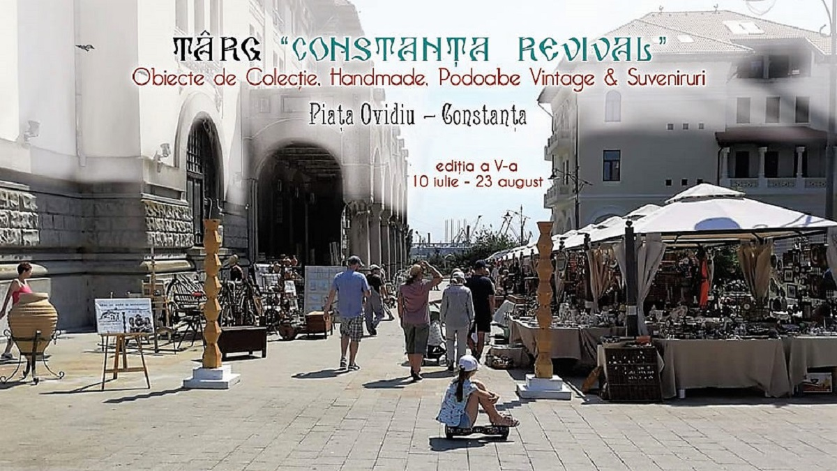 """Târgul de Artă și Antichități """"Constanța Revival"""", revine în Piața Ovidiu din Constanța"""