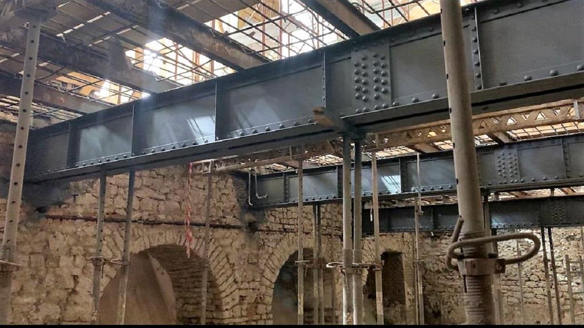 Grinzile construite de Anghel Saligny vor sta și acum la baza structurii planșeelor de peste subsol ale Cazinoului din Constanța