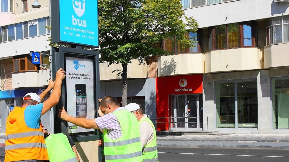 Stațiile de autobuz din Constanța vor fi dotate cu panouri luminoase