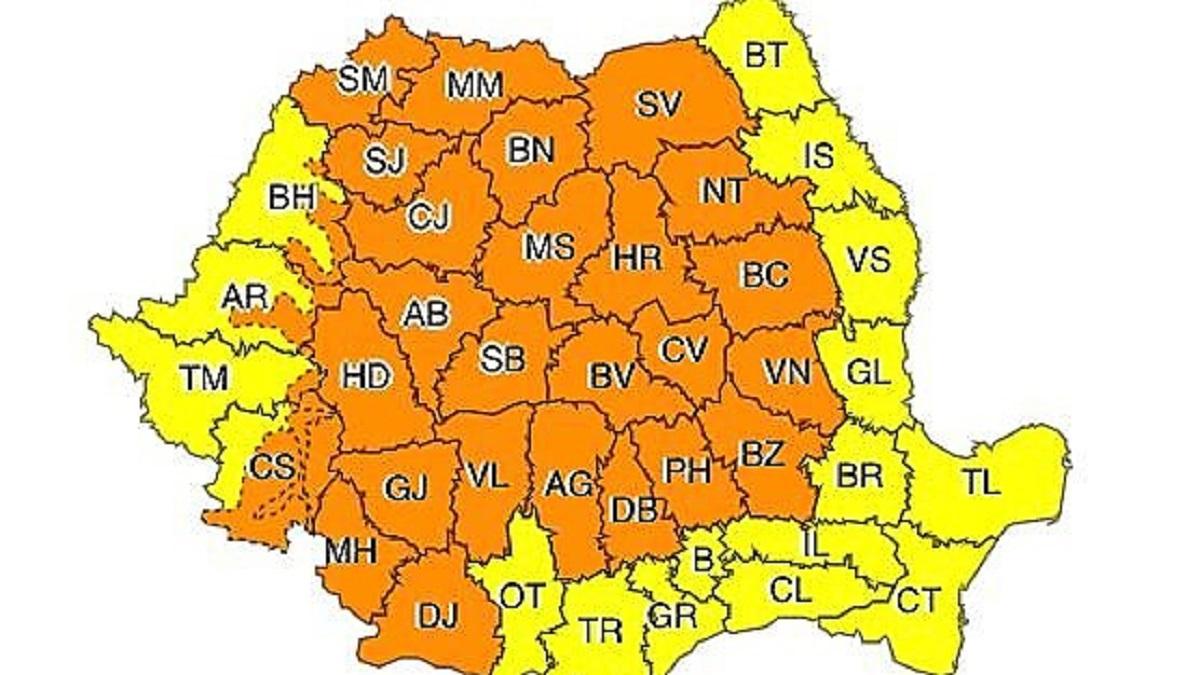 Avertizare Meteorologică: Cod Galben de ploaie valabil și pentru Constanța