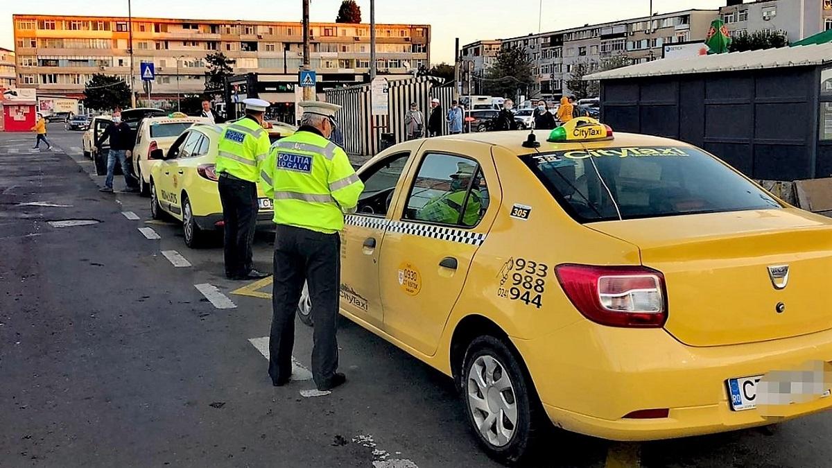 Peste 50 de amenzi aplicate taximetriștilor constănțeni, de polițiștii locali, pentru nerespectarea prevederilor legale