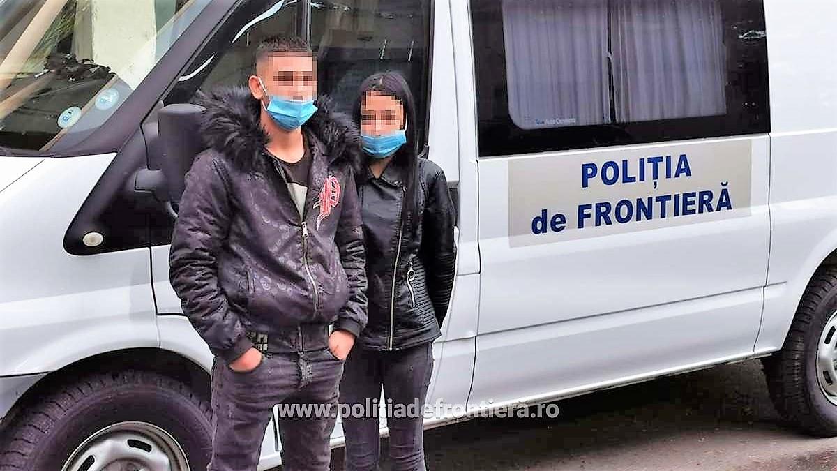 Un băiat de 18 ani și o fată de 16 ani, din Bulgaria, prinși când încercau să intre ilegal în România. Adolescenta figura în bazele de date ale autorităților bulgare ca fiind dispărută
