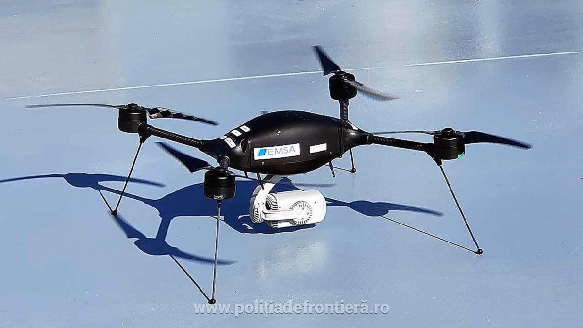Autoritățile de frontieră române folosesc o dronă pentru supravegherea zonei de coastă de la Marea Neagră