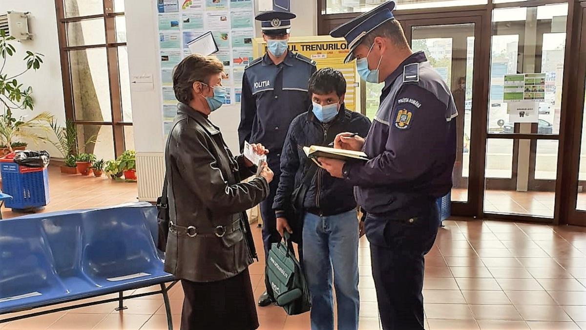 Sancțiuni de peste 100.000 de lei, în urma unei acțiuni comune a polițiștilor de la Transporturi și CFR Călători