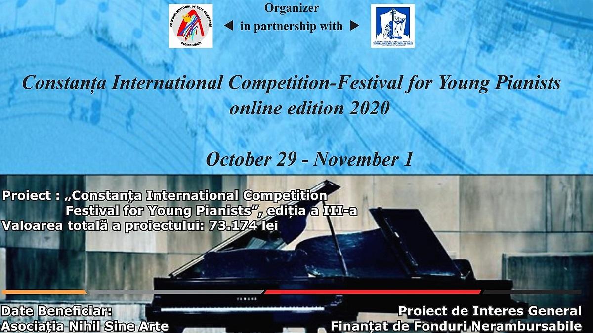 """Începe """"Constanța International Competition – Festival for Young Pianists"""", un concurs internațional pentru tinerii pianiști"""