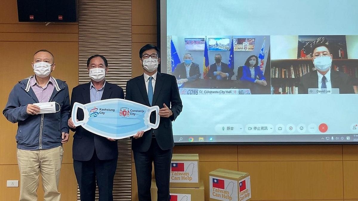 200.000 de măști și 4.000 de teste rapide anti-COVID, donate Constanței de către orașul Kaohsiung din Taiwan