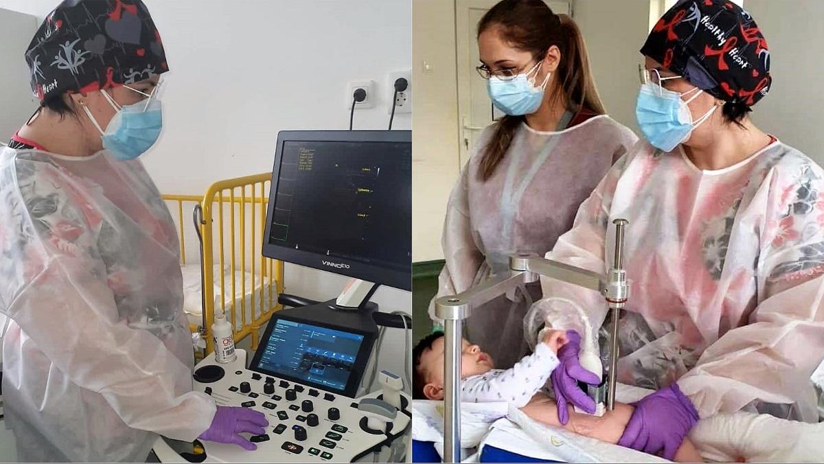 Asociația Dăruiește Aripi dotează secția de Chirurgie și Ortopedie Pediatrică a Spitalului Județean Constanța cu un ecograf performant