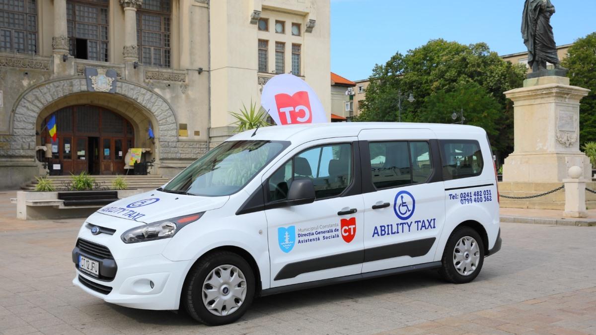 """Primăria Constanța oferă transport gratuit prin serviciul """"Ability Taxi"""" pentru persoanele cu dizabilități care doresc să se vaccineze"""