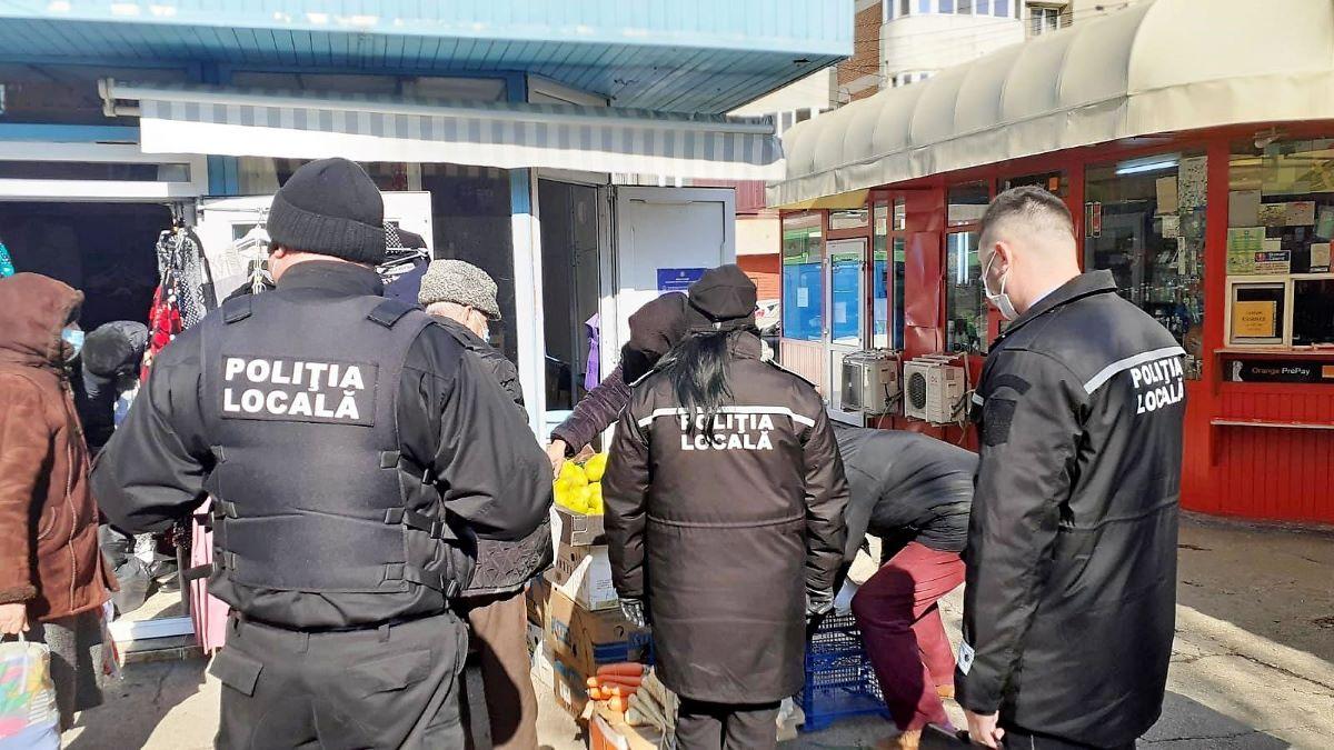 Amenzi de zeci de mii de lei, aplicate de polițiștii locali în piețele din Constanța