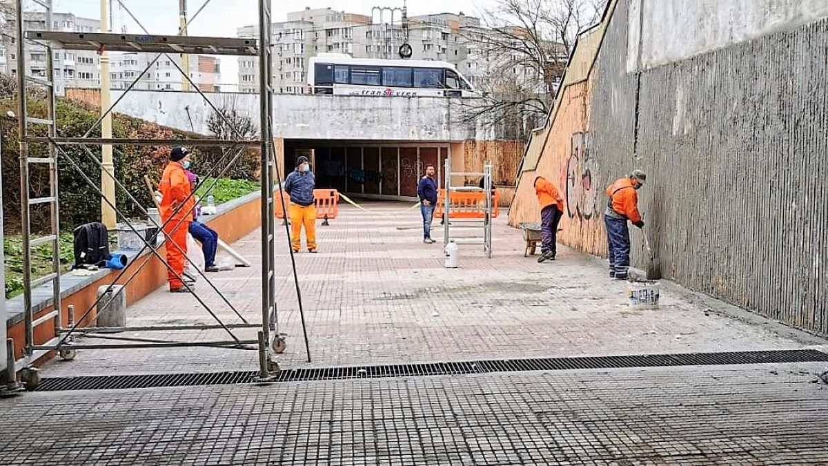 Pasajul pietonal subteran de la Gara Constanța va fi transformat într-un spațiu de activități educativ culturale pentru tineri