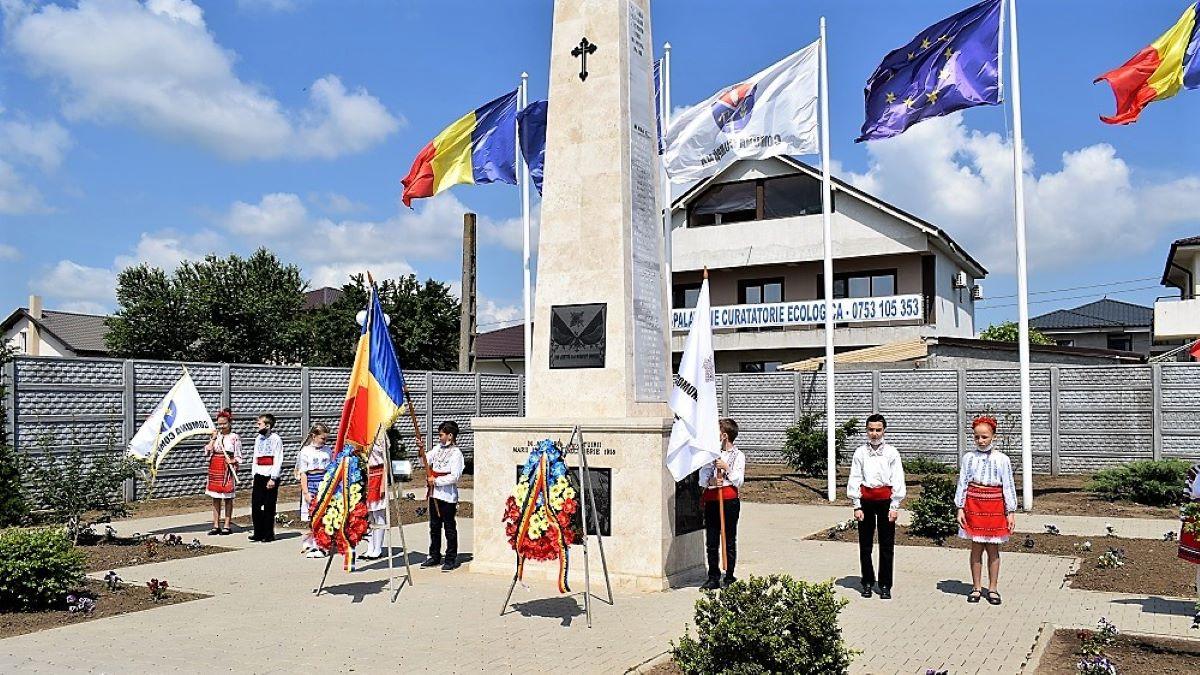 FOTO Ziua Eroilor Neamului, sărbătorită în Cumpăna la cele trei monumente ale eroilor din localitate