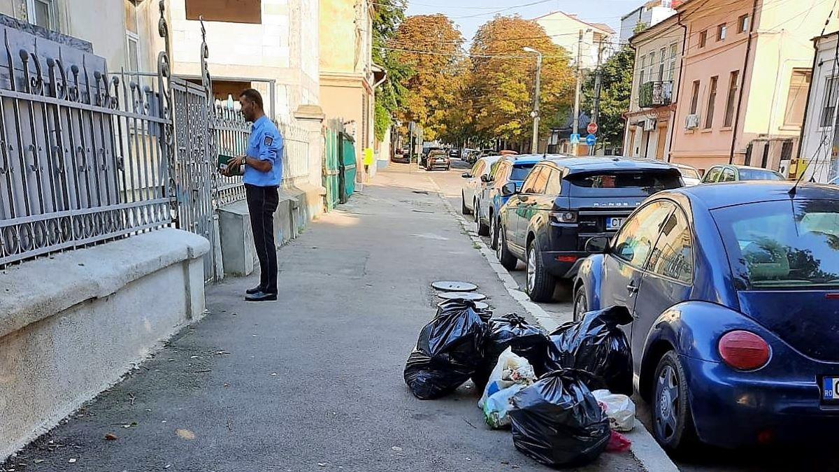 Amenzi de peste 125.000 de lei, aplicate constănțenilor care au aruncat gunoi pe domeniul public